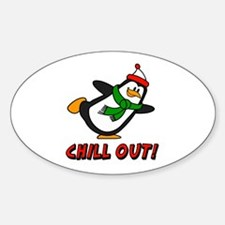 Chilly Willy Chill Out Sticker (Oval)