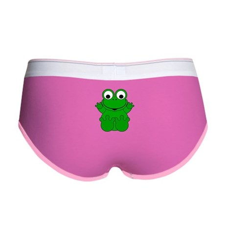 Cute Cartoon Frog Women's Boy Brief