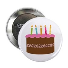 "5th Birthday Cake 2.25"" Button"