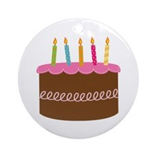 5th Birthday Cake Ornament (Round)