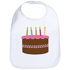 5th Birthday Cake Bib