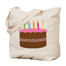 5th Birthday Cake Tote Bag