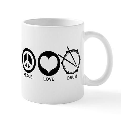 Peace Love Drum Mug