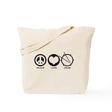 Peace Love Drum Tote Bag