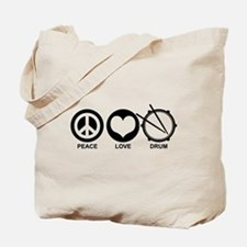 Peace Love Drum Tote Bag