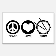 Peace Love Drum Decal