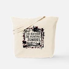 Hunting Zombies Tote Bag