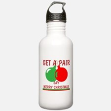 Say Merry Christmas Water Bottle