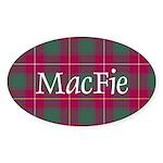 Tartan - MacFie Sticker (Oval)