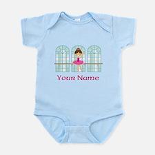 Customized Pink Ballerina Infant Bodysuit