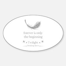 Forever is only the beginning Sticker (Oval)
