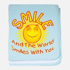 Smile & the World Smiles With baby blanket