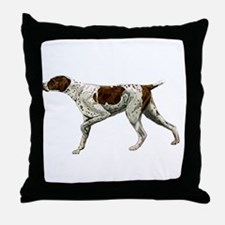 german shorthair pointing Throw Pillow