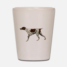 german shorthair pointing Shot Glass
