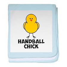 Handball Chick baby blanket