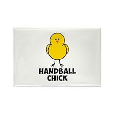 Handball Chick Rectangle Magnet (10 pack)