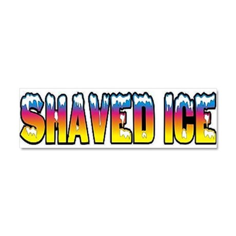 Shaved Ice Car Magnet 10 x 3