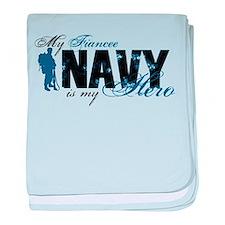 Fiancee Hero3 - Navy baby blanket