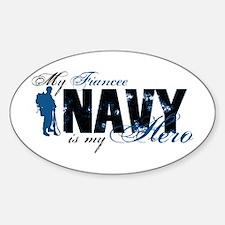 Fiancee Hero3 - Navy Sticker (Oval)
