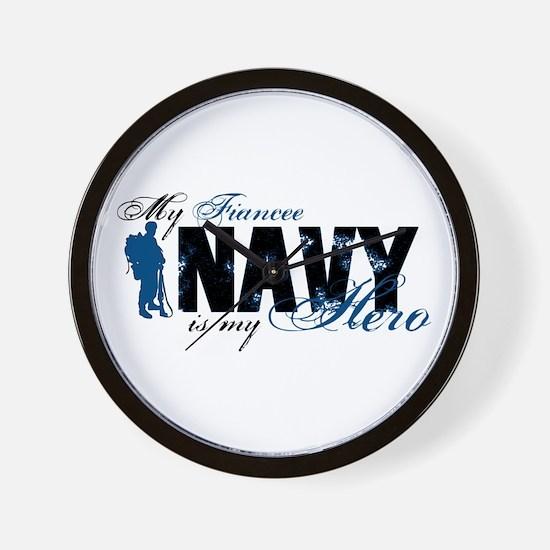 Fiancee Hero3 - Navy Wall Clock