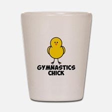 Gymnastics Chick Shot Glass