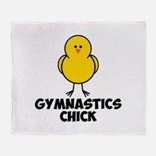 Gymnastics Chick Throw Blanket