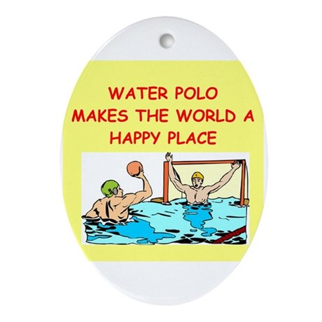 water polo Ornament (Oval)