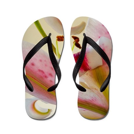Star Lily Abstract Flip Flops