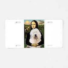 Mona's Old English Sheepdog Aluminum License Plate