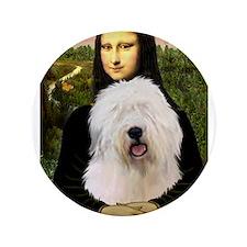 "Mona's Old English Sheepdog 3.5"" Button"