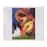 Mandolin Angel & Papillon Throw Blanket
