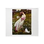 Windflowers & Papillon Throw Blanket