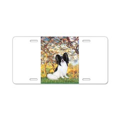 Spring & Papillon Aluminum License Plate