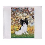 Spring & Papillon Throw Blanket