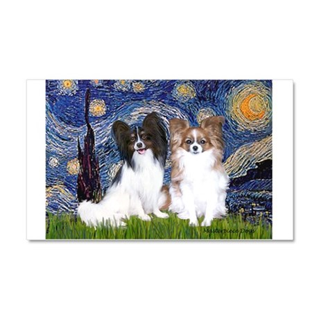 Starry / 2 Papillons Car Magnet 20 x 12