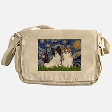 Starry / 2 Papillons Messenger Bag