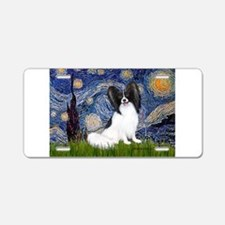 Starry Night Papillon Aluminum License Plate