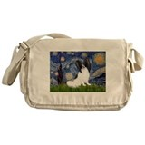 Papillon dog Messenger Bag