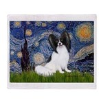 Starry Night Papillon Throw Blanket