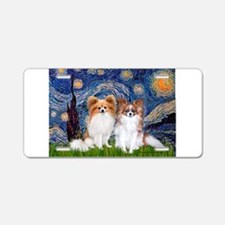 Starry Night & Papillon Aluminum License Plate