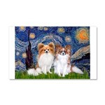 Starry Night & Papillon Car Magnet 20 x 12