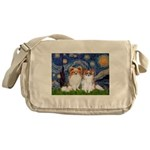 Starry Night & Papillon Messenger Bag