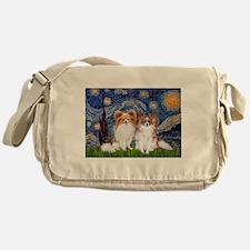 Starry Night & Papillon Messenger Bag