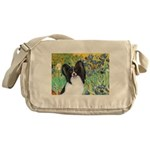 Irises & Papillon Messenger Bag