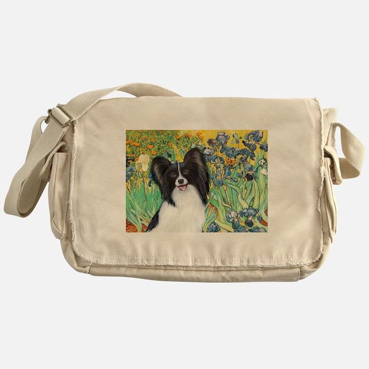 Irises & Papillon Messenger Bag
