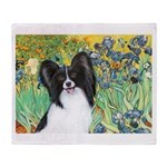 Irises & Papillon Throw Blanket