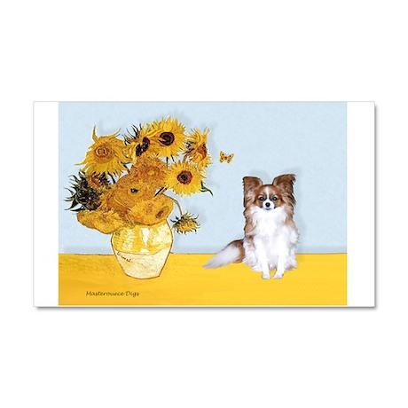 Sunflowers / Papillon(f) Car Magnet 20 x 12