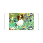 Irises / Papillon Aluminum License Plate