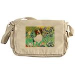 Irises / Papillon Messenger Bag