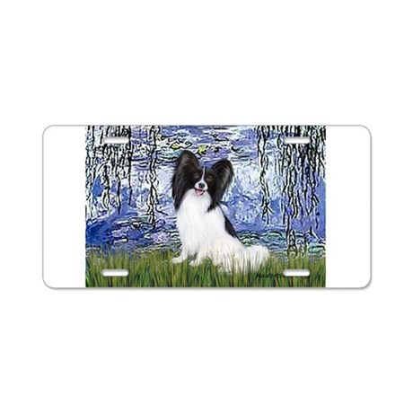 Lilies (#6) & Papillon Aluminum License Plate